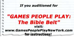 Visit Games People Play New York for Auditioning Info